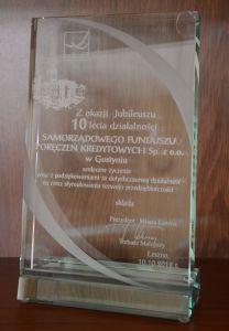 Gratulacje z okazji 10-lecia SFPK Sp. z o.o. w Gostyniu od Prezydenta Miasta Leszna