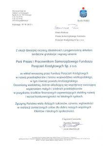 Gratulacje z okazji 10-lecia istnienia SFPK sp. z o.o. w Gostyniu