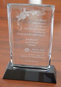 Gratulacje z okazji 10-lecia działalności SFPK Sp. z o.o. w Gostyniu od Kolskiej Izby Gospodarczej
