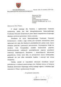 Gratulacje dla SFPK Sp. z o.o. w Gostyniu z okazji dokapitalizowania gostyńskiego funduszu od Wicemarszałka Województwa Wielkopolskiego