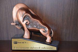 Podziekowanie z okazji 10-lecia działalności SFPK Sp. z o.o. w  Gostyniu od firmy SIMET